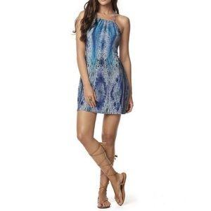 PILYQ Sadie Snakeskin Print Swim Coverup Dress